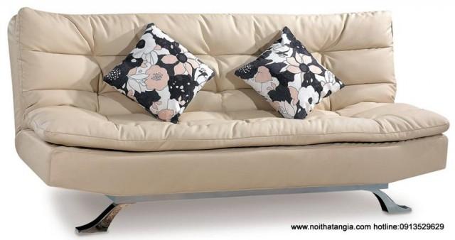 Sofa giường lật ngang DA32 da công nghiệp